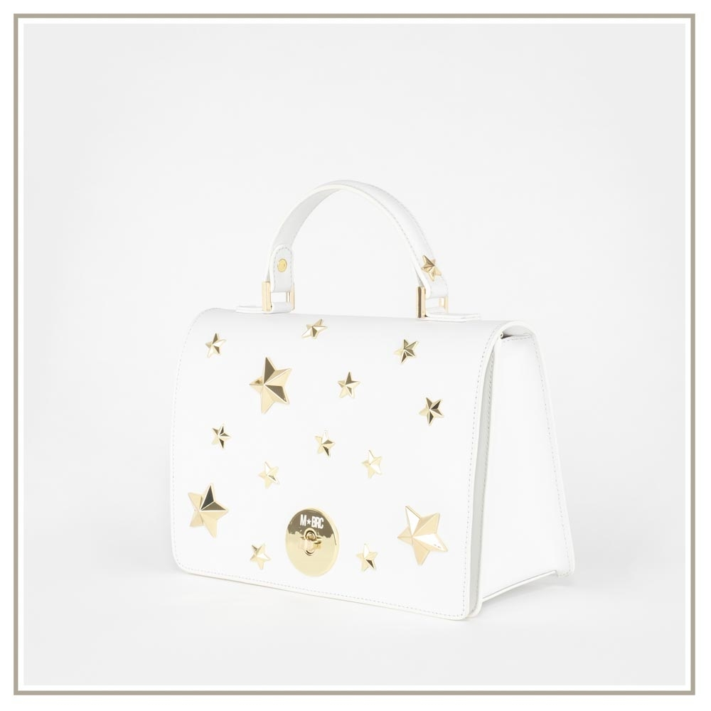 Leather handbag S127-BIANCO