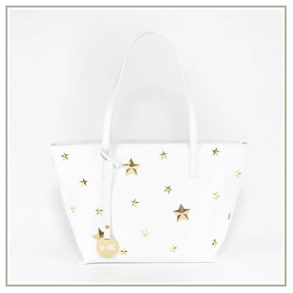Leather shoulder bag S130-BIANCO