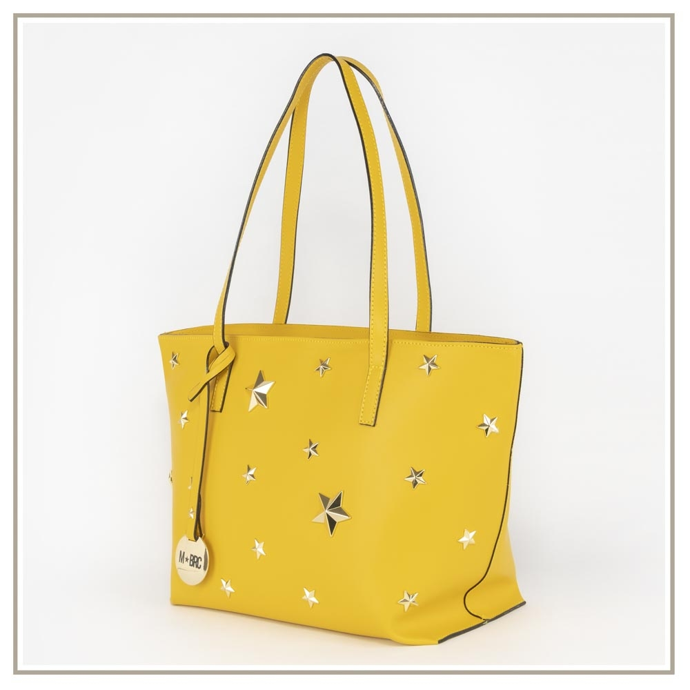 Leather shoulder bag S130-GIALLO