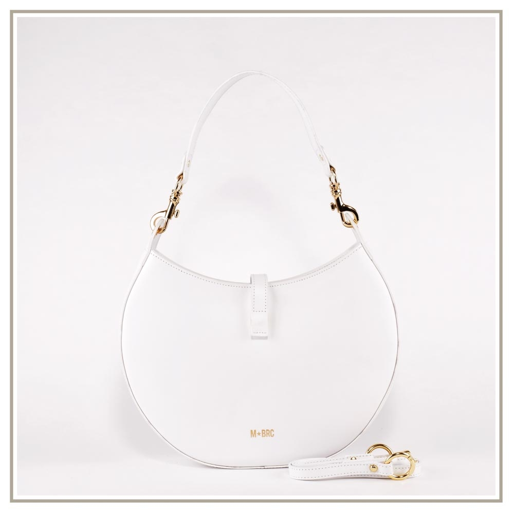 Leather shoulder bag S139-BIANCO