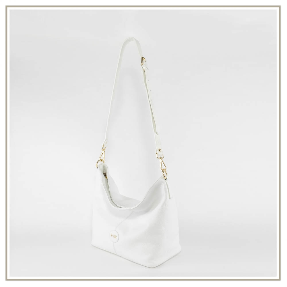 Leather shoulder bag S151-BIANCO