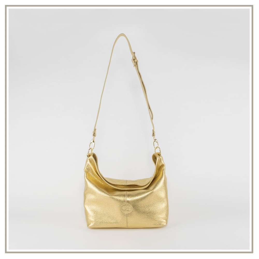 Leather shoulder bag S151-ORO
