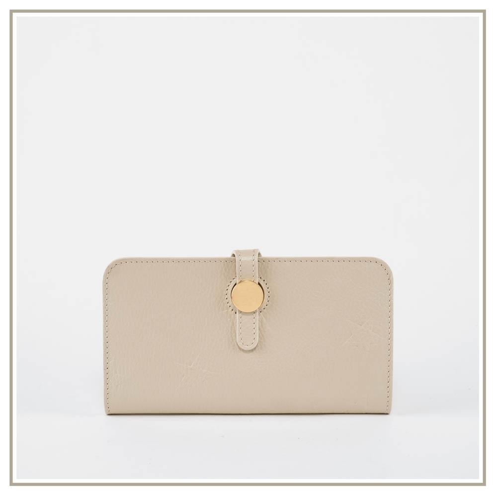 Leather document holder S168-BEIGE