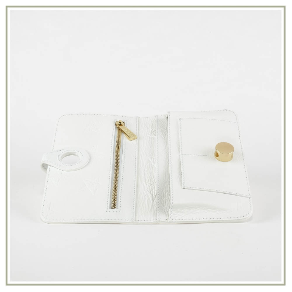 Leather document holder S168-BIANCO