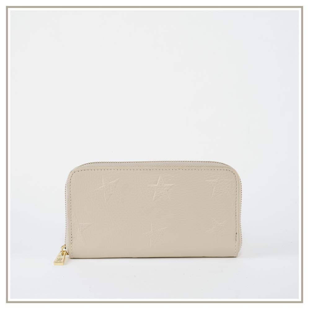 Leather Wallets S171-BEIGE